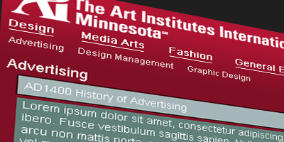 The Art Institutes International Minnesota Course Database